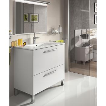 Badezimmerschrank Dakota auf dem boden 80 cm mit spiegel