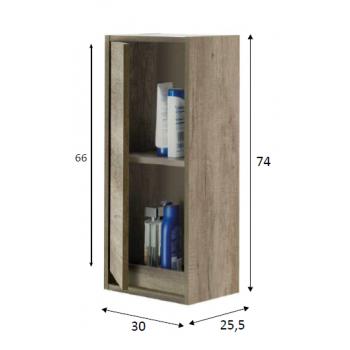 Hängesäule für Badezimmer mit 2 Türen naturfarben