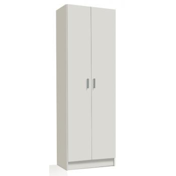 Schuhschrank 180 cm matt weiß 2 Türen