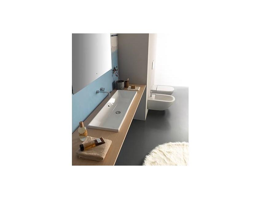 Waschtisch aufgehängt 102x45 cm aus Keramik Globo Stockholm