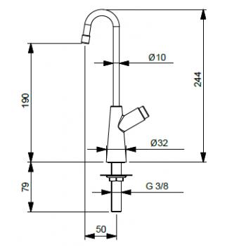 Idral Kit Wand-Selbstschlussbatterie für Dusche KSA32/31
