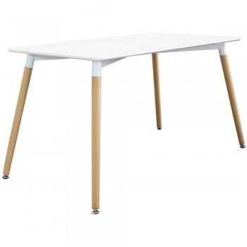 Tisch 140x80 cm Mattweiß...