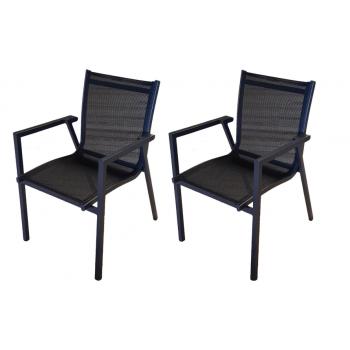 Set 2 stapelbaren Stühlen...