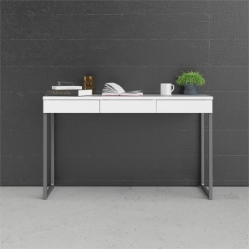 Schreibtisch 126x52 cm Weiß...