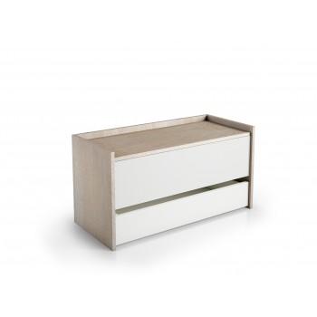 Box 90x40 cm weiß Esche und...