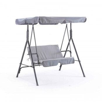 Schaukelstuhl 2-Sitzer grau...